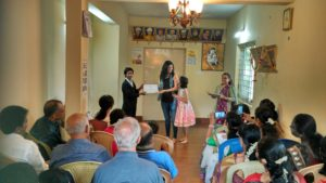 A LifeDream student accepts her certificate of completion. We hope to help many more students like her!